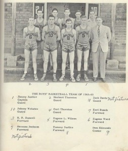 1948 - 1949 Mens Basketball Team 001