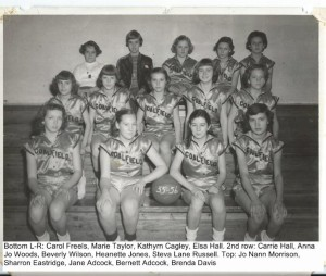 1955 - 1956 Girls Basketball Team 001