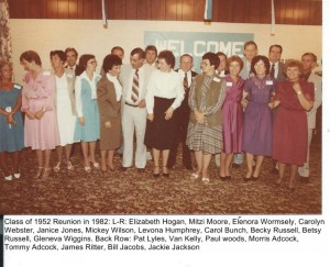 Class Of 1952 Reunion in 1982 at Harriman Holiday Inn 001