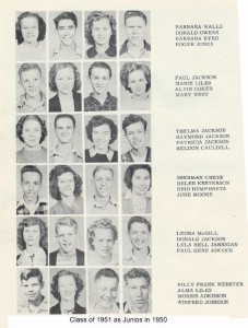 Class of 1951 as Juniors 001