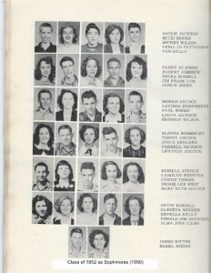 Class of 1952 as sophmores (1950) 001