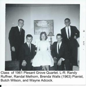 Plesant Grove Youth Quartet, Class of 1961 001