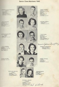 Senior Class Members 1949a 001